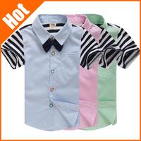 hot sale new boy shirt children's clothing kid summer 2013 short-sleeve baby shirt
