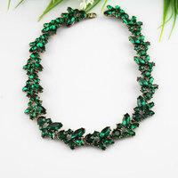 Luxury ! 4 colors rhinestone necklaces women's leaf shape choker necklace Free Shipping M0323