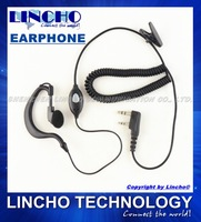 10 pcs PTT walkie talkie retractable earplug earphone with wire mic for TK-3107 HYT LINTON BAOFENG PUXING etc K-Type