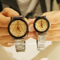 Steel strip lovers watch compass pointer men and women watches fashion personality waterproof quartz watch