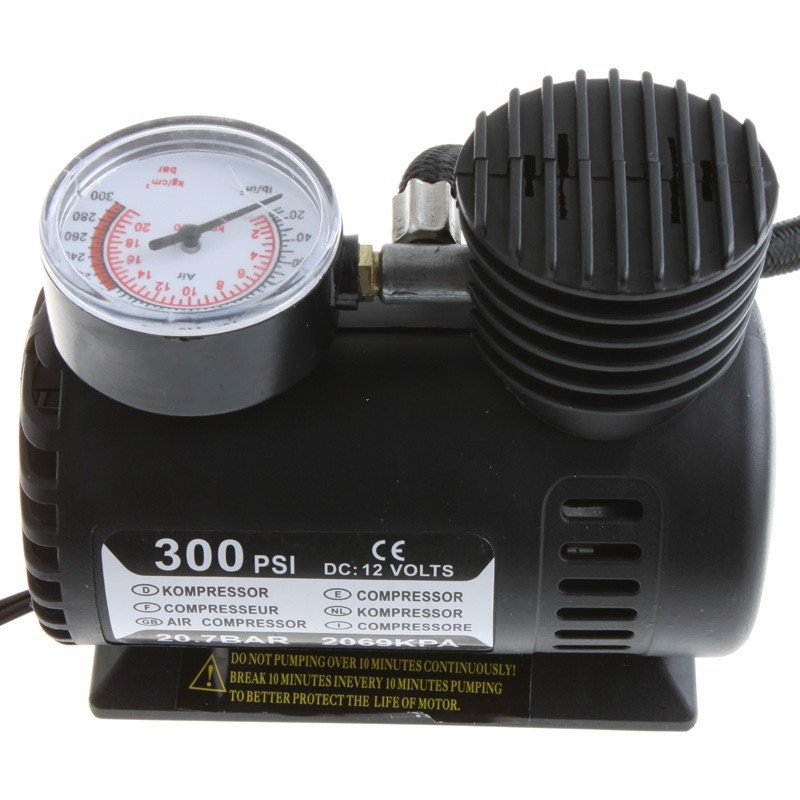 Wholesale 2013 New 12V Car Auto Electric Pump Air Compressor Portable Tire Inflator 300PSI K590 Free Shipping(China (Mainland))