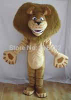 Madagascar Lion Alex Mascot Costume Animal Mascot adult Costume Free shipping