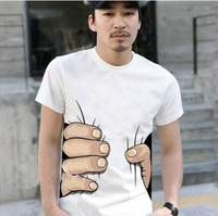 2014 NEW MEN/WOMEN Tee T-shirt Funny Cool Designed T shirts womans Clothes White tops S/M/L/XL PLUS SIZE