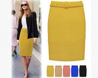 Free Shipping Summer new arrival  Women OL skirt, High waist slim hip skirt  Big size S M L XL XXL