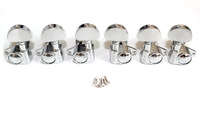 Free Shipping Set Chrome 3L3R Original Guitar GROVER Tuning Machine Heads