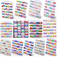 Cute 72 pairs Wholesale Jewelry Lots Mixed Polymer Stud Earrings & Display pad 14 style