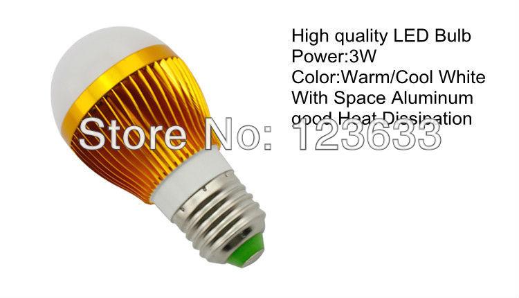 9pcs/lot Free shipping 3w Bubble Light Bulb 3 led AC85-265V E27 High power Ball LED Light Bulbs Lamp QP007(China (Mainland))