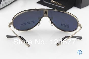 2013 Free shipping! Man polarizing folding sunglasses, prevent UVA, UVB 610~Mirror driver luxury male boutique sunglasses ~cool~