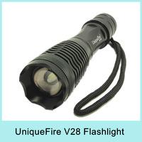 UniqueFire 12W 1800 Lm Zoomable CREE XM-L U2 LED Flashlight Torch 3x AAA/18650 UF-V28 Drop Shipping