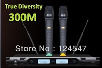 Free Shipping Wireless Microphone system Professional True Diversity UHF karaoke Microphone system  Good quality Factory Outlet