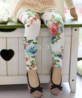 Wholesale 5pcs/lot 2013 new baby little girls floral leggings kids pants children's spring pantyhose trousers