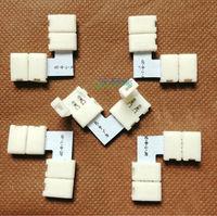 """5 pcs 2 pin Connector """"L"""" shape Clip 8 mm 3528 LED Strip single color Solderless on sale DIY wholesale"""