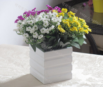 Free Shipping Artificial Flowers Milan with fence Garden Home Shop Decor