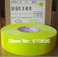 3M-4083 Highlight lattice diamond-level reflective tape 50MM fluorescent yellow green warning marking tape vehicle reflecting