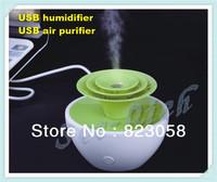 2013 HOT Sale! Mini USB Home Humidifier Support Humidifying/Aroma diffusion/Air Purifier Baby Humidifier  Free shipping