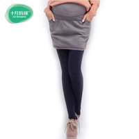 2013 maternity clothing summer denim maternity bust skirt short skirt with high quality