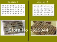 Freeshipping! 70pcs/set/ Number &Letter Wood stamp Set/DIY funny/Wooden Box/Multi-purpose stamp/