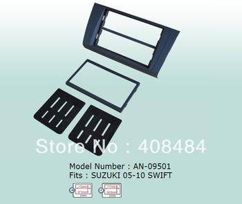 Fascia 2DIN Panel Special Car Audio Refitting Panel Frame Dash Kit For SUZUKI SWIFT 2005~2012 For Retail/Set  Free Shipping