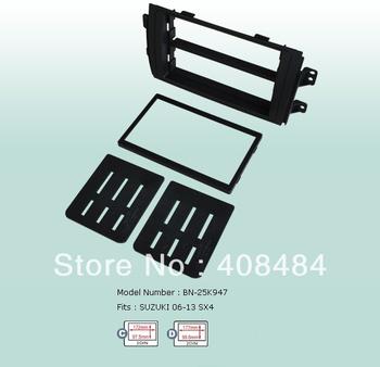 Fascia 2DIN Panel Special Car Audio Refitting Panel Frame Dash Kit For SUZUKI SX4 2006~2013 For Retail/Set  Free Shipping