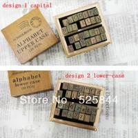 Freeshipping! 28pcs/set/ Letter Wood stamp Set/DIY funny/Wooden Box/Multi-purpose stamp/