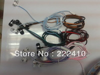 New pattern 3.5MM In-ear earphone for MP3/MP4 with mic Stereo 8 colors PE bag packing free shipping