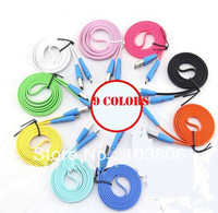 3FT 1m 1000pcs Color micro usb LED Smile Face Colorful Flat Noodle Micro 5Pin V8 USB Data Cable For Samsung HTC Blackberry S3 S4
