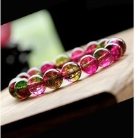 High quality 10mm nature Watermelon crystal string beads bracelets/bangles,bests pecial jewelry gift for fashion women