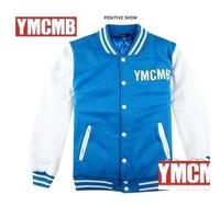 Ymcmb baseball uniform male baseball shirt jacket men's clothing lil wayne trend baseball clothing outerwear