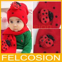 baby hat cap scarf twinset Cotton Beatles hat children hat+scarf Toddler animal