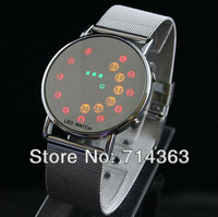 Hot Sale 203 NEW Multicolour LED Screen Digital Mens&Womens Sports Watch  LED Watch  Mirror Screen Free Shipping