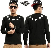 2013 new autumn/winter Five-pointed star   long-sleeved T-shirt for lover   #T-07