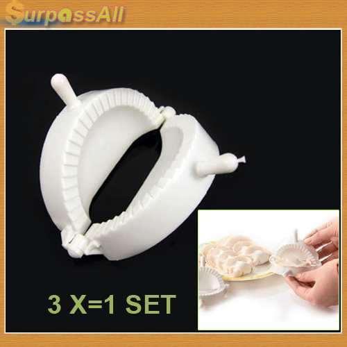 (Free shipping CPAM) 3PCS/SET Home DIY Chinese Dough Press Dumpling Pie Ravioli Making Mold Mould Maker Tool H-151A(China (Mainland))
