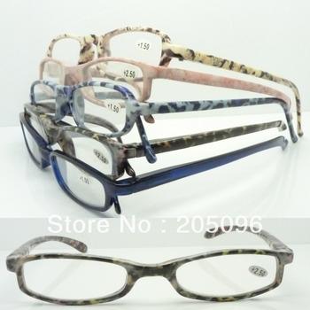 clear factory stock lot M372 plastic semi amber with flexible spring hinge fullrim reading eyeglasses free shipping