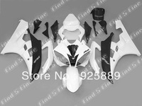 high quality matt black white for YAMAHA YZF-R6 06 07 06-07 YZF R6 2006 2007 YZFR6 2006-2007 ABS fairing kit