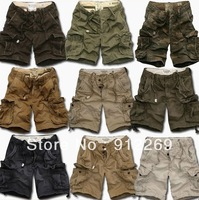 NEW mens Casual Cotton Short Pants Middle pants cargos shorts Men's leisure shorts,men's overalls 9 colors M-XXL Free shipping