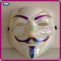 Free Shipping (10pieces/lot) 2013 hot selling China supplier guy fawkes movie mask various V Mask For Vendetta rainbow color