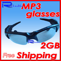 Fashion Mini Sunglasses Mp3 Player USB Headset Sport Travel Sun Glass 2GB Promotion Good for Gift