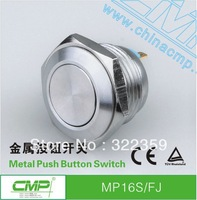 MP016S/F-J 16mm Flush Push Button Switch ,Momenary,2 Pin Terminal,1 NO