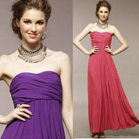 Fashion tube top  long design banquet evening dress sister formal full