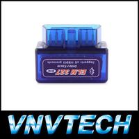 elm 327 Factory price  mini ELM327 Bluetooth OBD-II OBD the smallest around the world V1.5 elm 327 mini free shipping