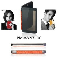 Anymode ME-IN Mirror Leather Folio Cover for Samsung Galaxy Note 2 II N7100,  Screen Protector, Supported NFC, Free HK Post