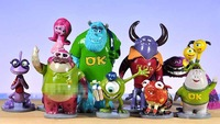 10 Pieces 10CM High  Monsters Inc. Monsters University Mike Sully PVC Action Toys Figures WA0005