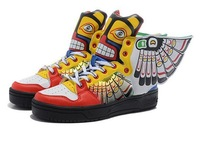 Free shipping Man & Women Jeremy Scott Wings 2 Shoes butterfly wings-grimace jeremy scott wings sneakers js wings shoes