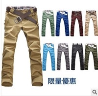 2014 hot sale Men's fashion leisure slim pants Free shipping
