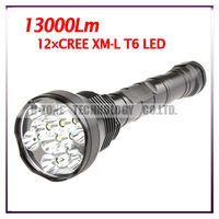 HK Post Free shipping TrustFire LED High Power Flashlight Torch With 12-CREE XM-L T6 5-Mode 13000 Lumens