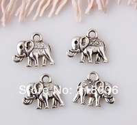 150pcs Tibet Silver Elephant  Floating Charms  Pendants For  Bracelets Jewelry Making DIY  Metal  Jewelry  12x13mm  M1385
