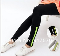 wholesale fashion 2013 women leggings fluo zipper high elastic sports slim  pants Shipping With Tracking Number