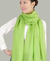 Beautiful Green Color 100% Mullberry Silk Scarves Women's Long Shawl Scarf Silk  195cmX65cm
