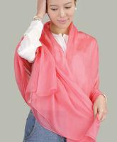 Free shipping 100% Pure Silk Scarves Ladies Long Shawl Scarf 195cmX65cm