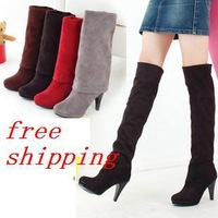 Spring and autumn 2012 scrub high-leg platform boots winter boots high-heeled boots knee-length boots